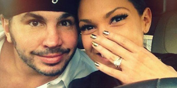 Matt Hardy & Reby Sky on the night they were engaged.