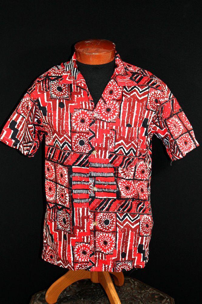 1960's Psychedelic Flower Cotton Hawaiian Shirt // Vintage Malihini Shirt // Rare Hawaiian Shirt // Bold Print Hawaiian Shirt // Size XL gHuZK1S