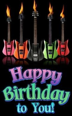 #FLAMING #GUITARS for guitarist friend. HAPPY BIRTHDAY FACEBOOK - https://www.pinterest.com/DianaDeeOsborne/happy-birthday-facebook/ - Collection for you to quickly find Just The Right Picture to send celebration greetings to that Special Person in your life. Photo from #Quotation #Inspiration net - had to delete LINK someone added to pic. Source: LoveThisPic Images