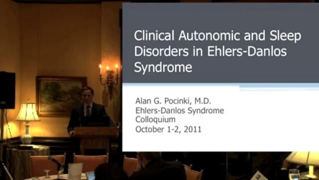 This is an excellent video about Ehlers Danlos Syndrome and dysautonomia (a dysfunctional autonomic nervous system). He explains why sleep is disturbed for those with EDS and why treatment is so difficult and frustrating for the patient and the doctor.