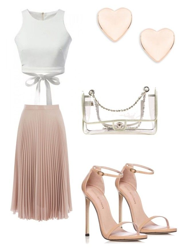 """""""with love"""" by ericajones-iii on Polyvore featuring Warehouse, Stuart Weitzman, Chanel and Ted Baker"""