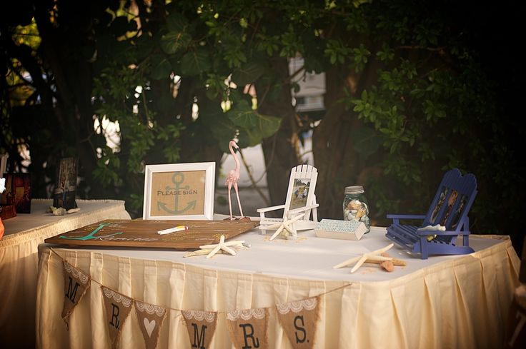 #beach reception #welcome table