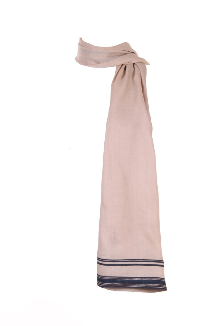 Half Width Grey Viscose Dupatta With Contrast Binding At Lengths And Contrast Patti And Tape Details At Widths; 2.25M In Length; Non Crinkled #Fashion #Style #Colors #Drapes #W for #Woman