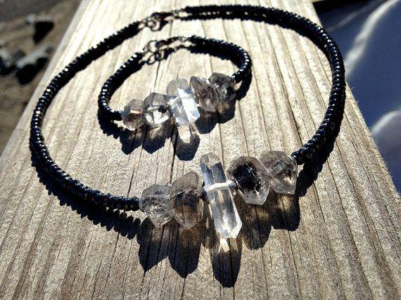 Frozen Necklace and Bracelet Set. Rustic Princess. by rocksnbeads