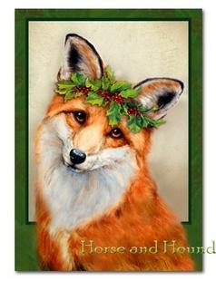 Foxy Christmas | Fox painting, Fox art