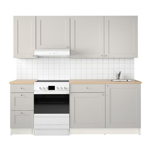 Ikea Kitchen Modules: KNOXHULT Kuchnia, Szary W 2019
