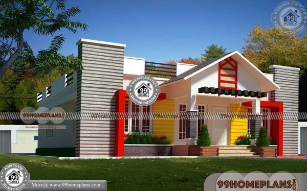 Single Floor Elevation With Less Cost House Designs 100 New Plans Kerala House Design House Front Design House Design Pictures