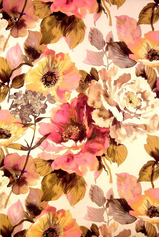 soft floral : Jardin Fabric | Art  Soul Fabric Collection | James Dunlop Fabrics