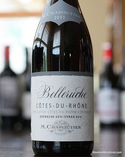 M. Chapoutier Cotes-du-Rhone Belleruche Rouge 2011 - A Smoky Character. 60% Grenache and 40% Syrah from Cotes-du-Rhone, France. $10 http://www.reversewinesnob.com/2013/07/m-chapoutier-cotes-du-rhone-belleruche-rouge.html #winelover