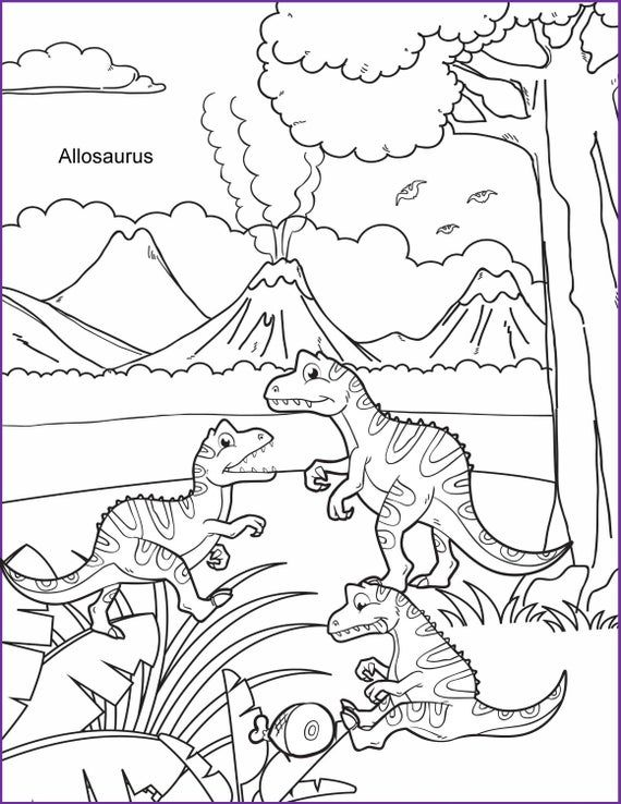 Coloring Pages For Kids 5 Printable Dinosaur Colouring Sheets Etsy In 2021 Dinosaur Coloring Dinosaur Coloring Sheets Family Coloring Pages