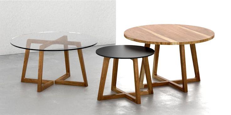 Mesas ratonas rendondas: Livings de estilo moderno por Forma muebles