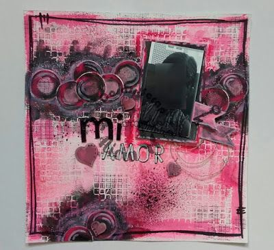 Layout scrap mixed media. Lo Mi Amor