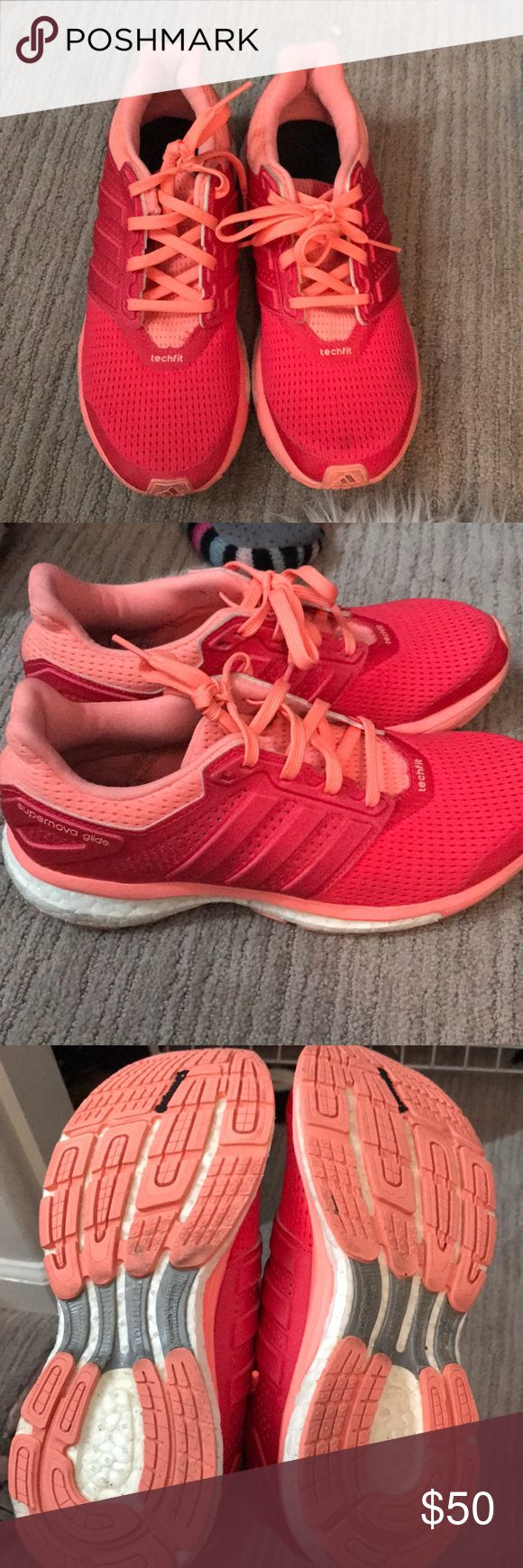 ADIDAS RUNNING SHOES Great condition worn 1-2x tops. Adidas running shoes supernova glide. Missing inner sole cushion adidas Shoes Sneakers