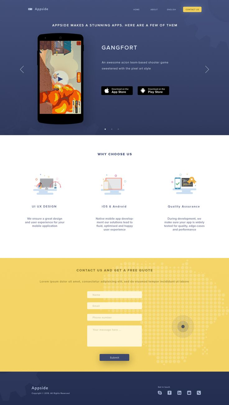 Appside landing page copy