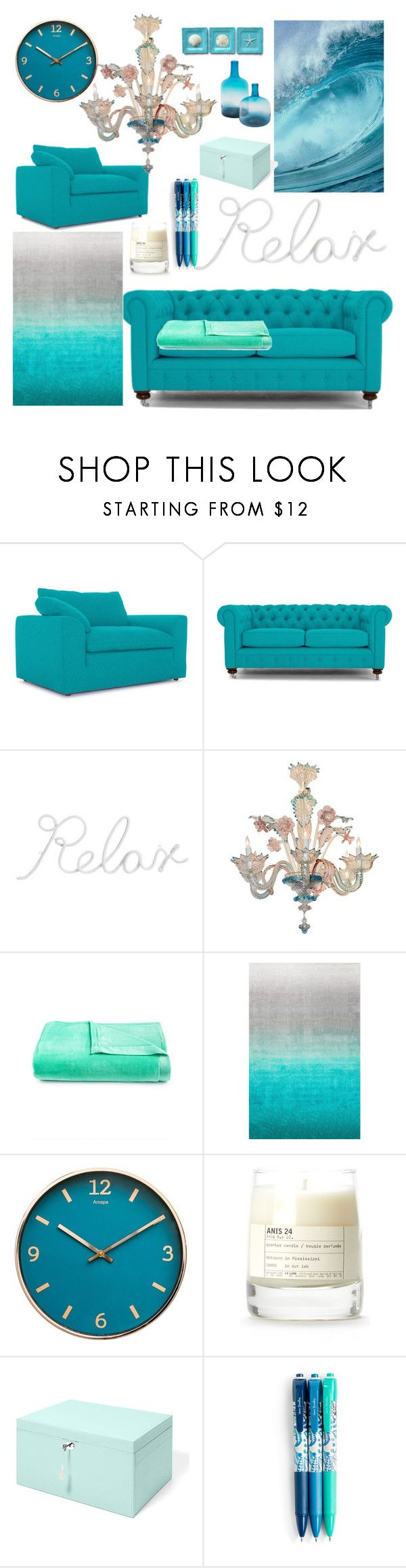 """""""Untitled #63"""" by mariasara-dima ❤ liked on Polyvore featuring interior, interiors, interior design, home, home decor, interior decorating, Joybird, PBteen, Berkshire and nuLOOM"""