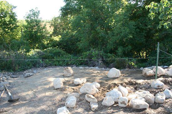 rocks ready for wall