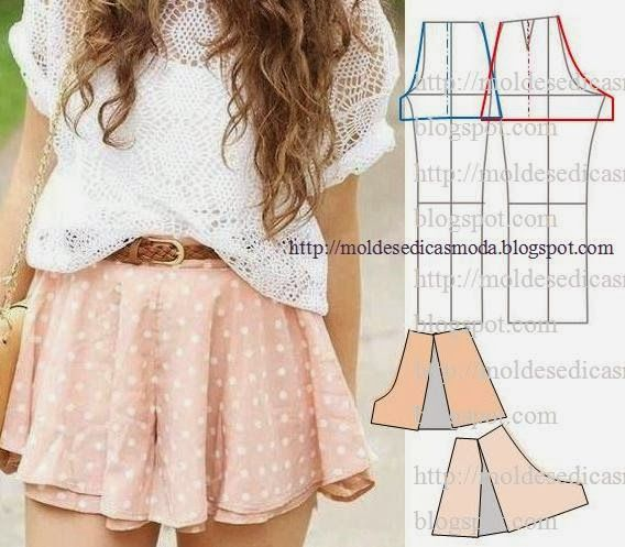 Moldes Moda por Medida- draft loose shorts