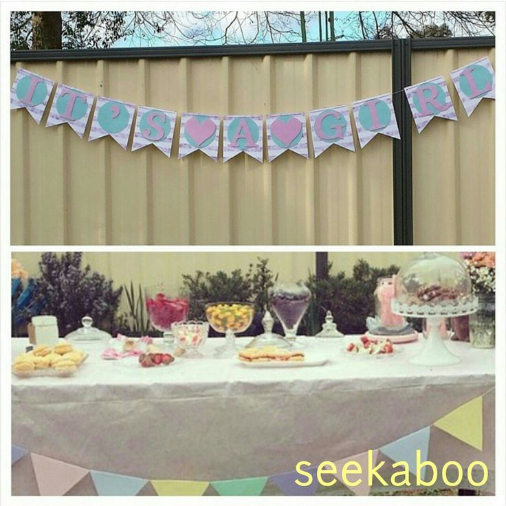 Baby shower decorations by seekaboo.