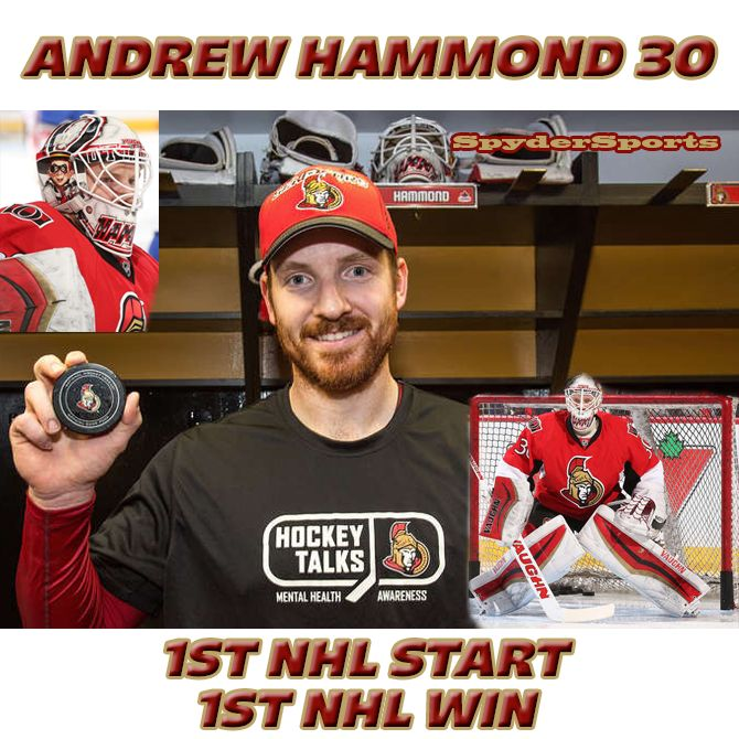 Andrew Hammond Records First NHL Win | Spyder Sports Lounge