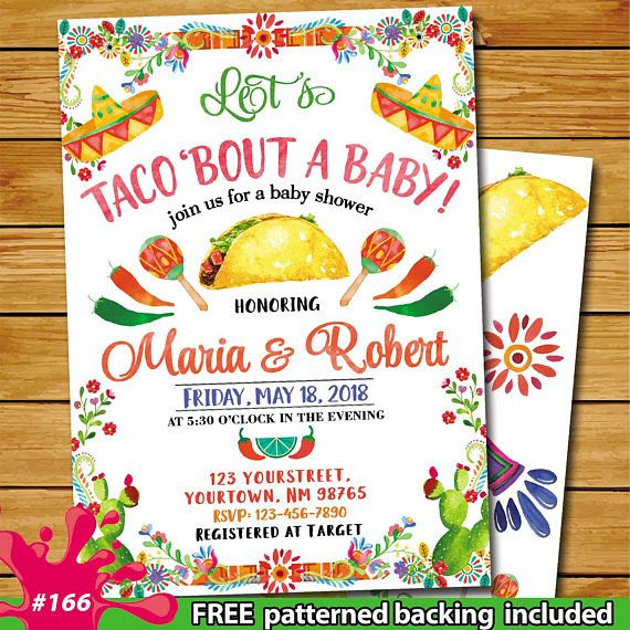 Taco bout baby shower, Fiesta baby shower invitation, Mexican baby shower invitation, cactus baby sh