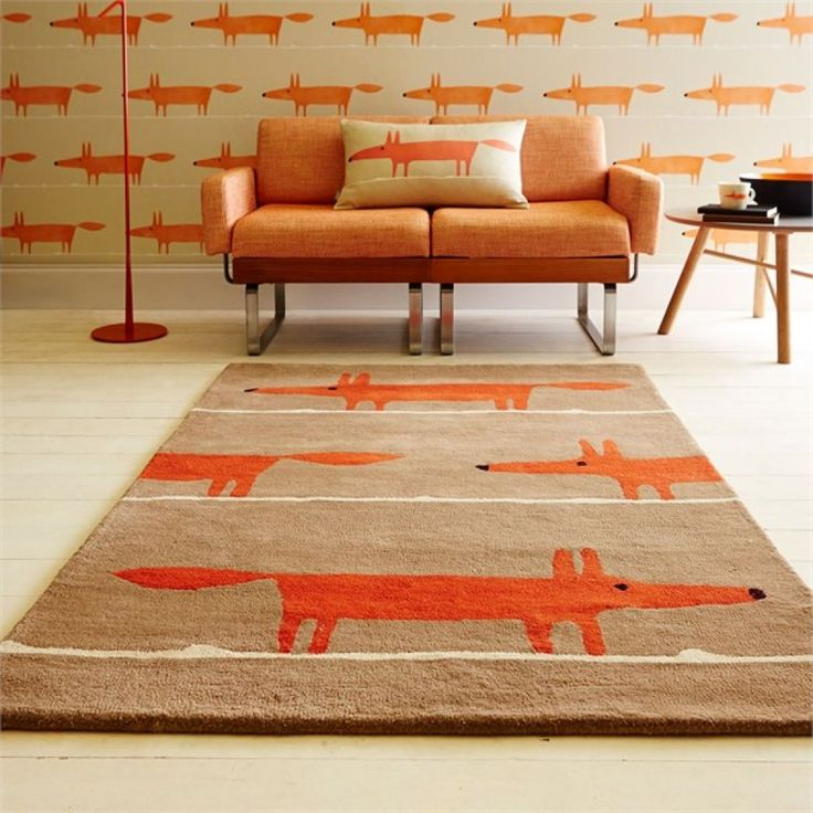 Scion Mr Fox Cinnamon Rug Auckland New Zealand