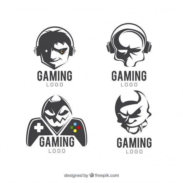Download Gaming Logo Collection With Flat Design For Free Game