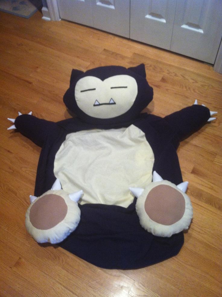 Snorlax Pokemon Full Size Bean Bag Chair 29900 Via Etsy