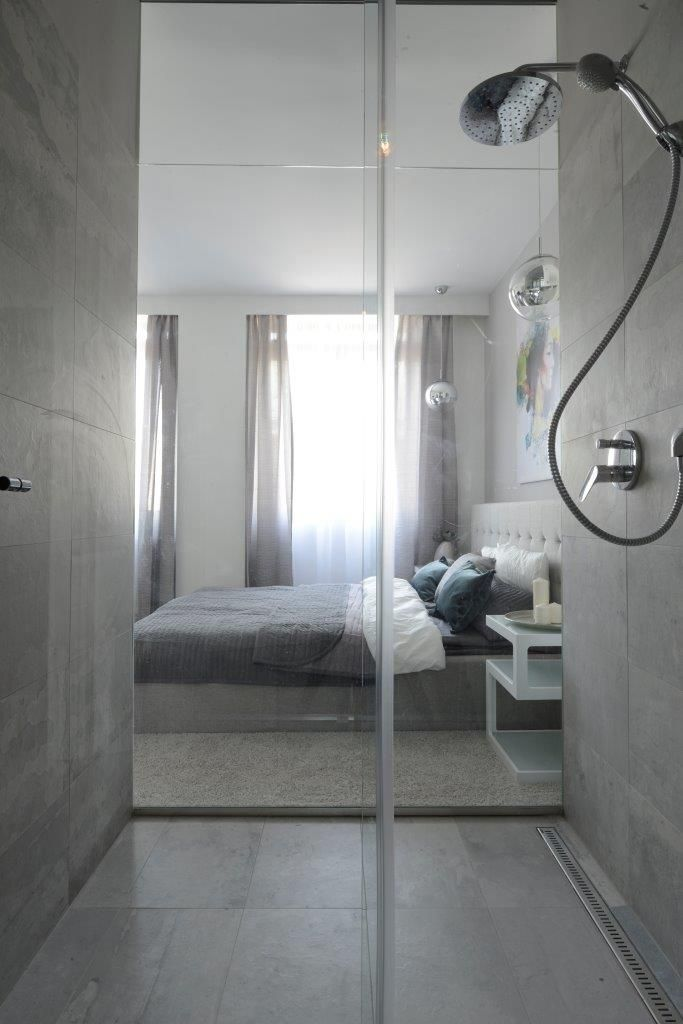 Home, grey, bathroom, bedroom, design, silver, interior, glass, inspiration