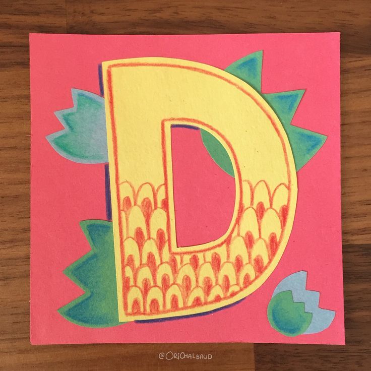 Letter D!. This is part of a paper art type I'm making for 36 days of type and also part of my 100 days project about paper art! :)