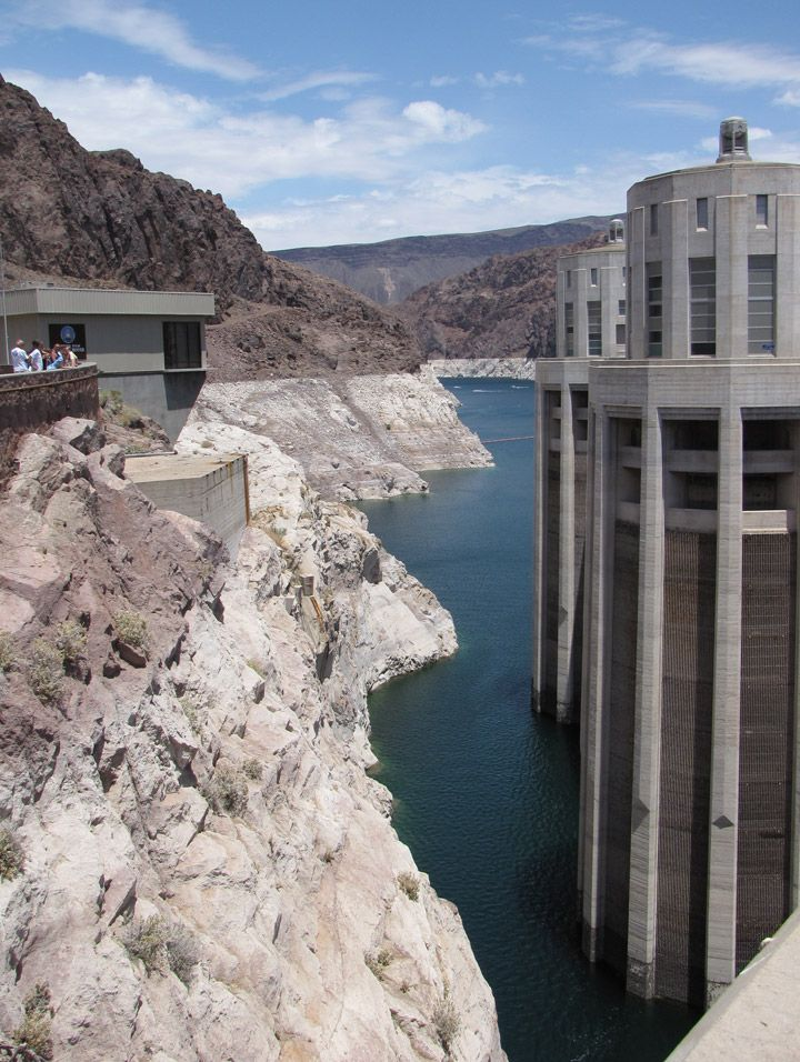 Hoover Dam - Lake Mead (Nevada/Arizona state border and Pacific/Mountain time zone divide)