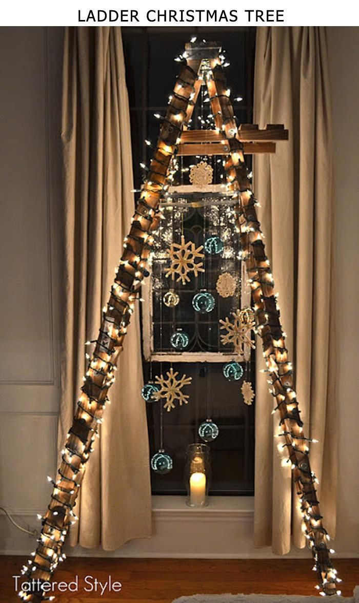 10 cool and unusual Christmas trees- (Ladder Christmas Tree)