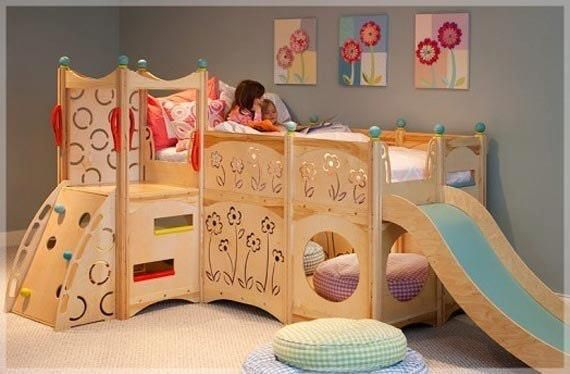 Cute girly jungle gym bed for the home kids room pinterest