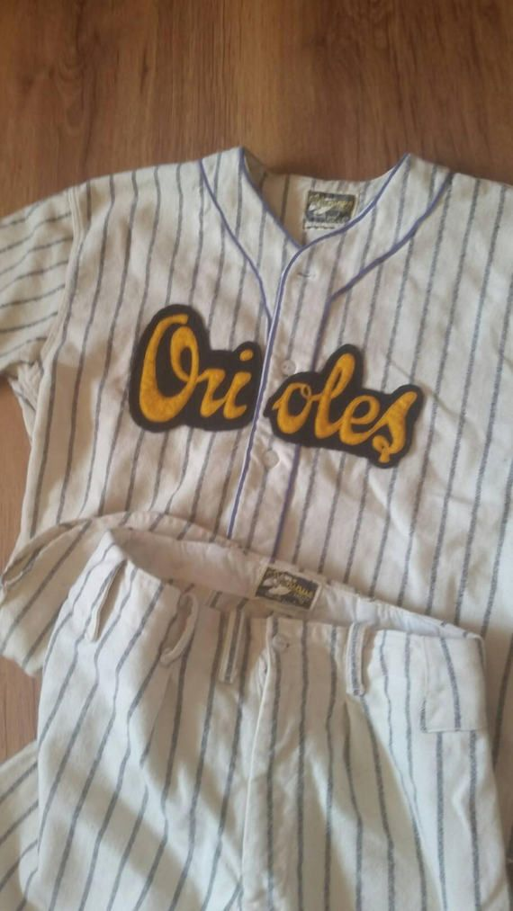 Check out this item in my Etsy shop https://www.etsy.com/ca/listing/507333378/vintage-youth-baseball-uniform-wool