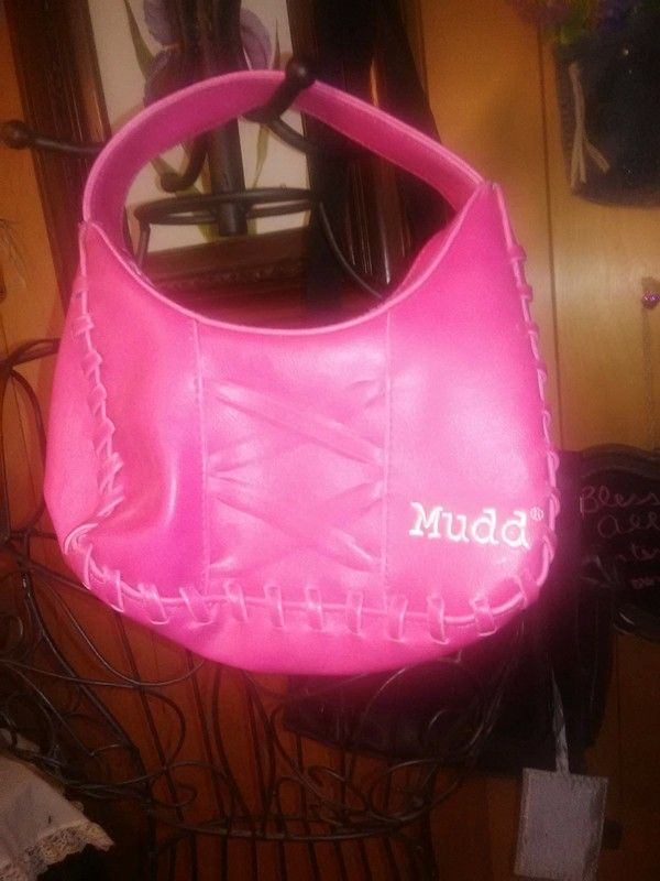 60f1cd899f2a Mudd Hot Pink Purse -  Mudd HotPinkPurse Small handbag barely used. No  visible flaws. I loved the corset threading and is made faux leather.