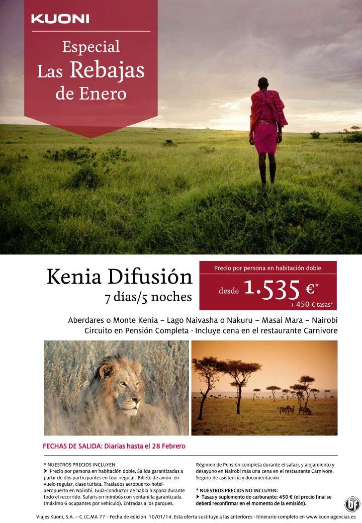 Las Rebajas de Enero - Kenia Difusión 7 días/5 noches desde 1.535 € + tasas ultimo minuto - http://zocotours.com/las-rebajas-de-enero-kenia-difusion-7-dias5-noches-desde-1-535-e-tasas-ultimo-minuto/