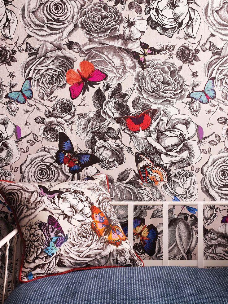 Butterfly Garden - это весенний подарок от   Osborne & Little. Веселые обои и нарядный  текстиль - эта парочка способна разбавить самый хмурый интерьер!