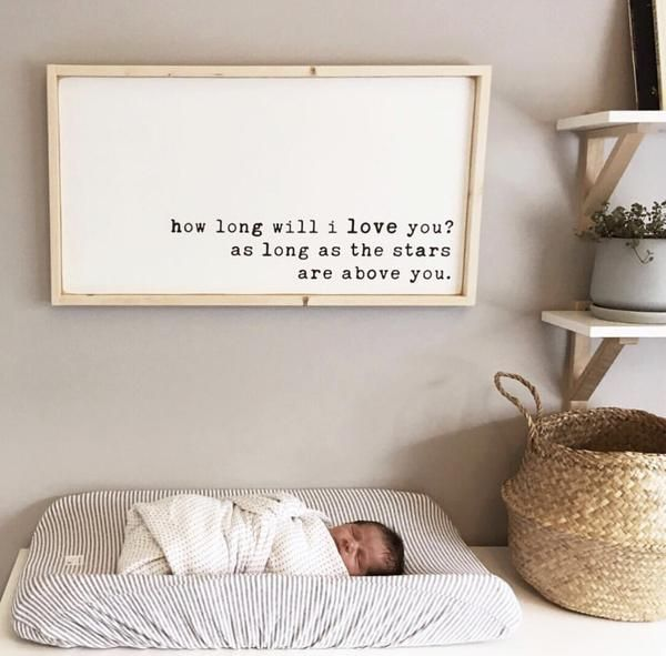 How Long Will I Love You | Bohemian Style Wood Sign