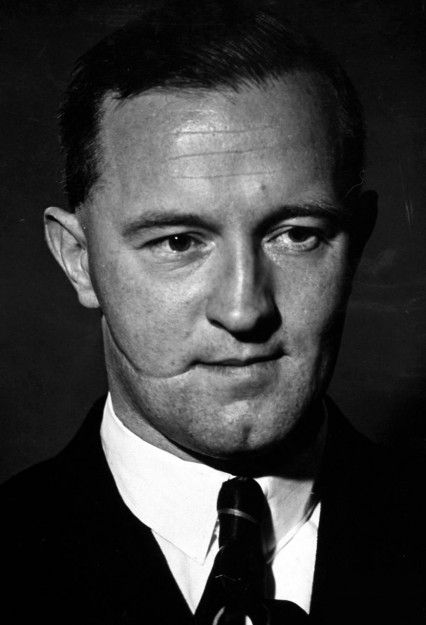 "William Joyce (politician) ""Lord Haw Haw"" - famed for his ""Germany Calling, Germany Calling"" broadcasts.  Executed for treason at Wandsworth prison, January 3 1946.  Albert Pierrepoint the hangman said Joyce's last words were ""I think we better have this on, you know""."