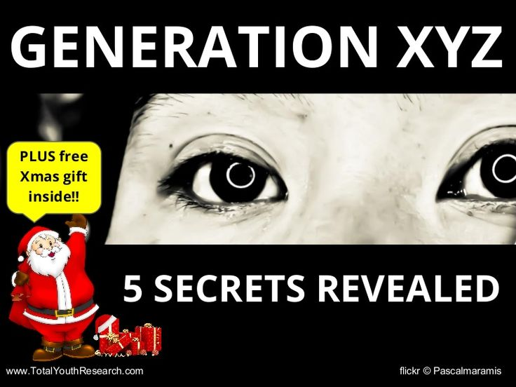 5 Secrets Revealed about Understanding Generation X, Y and Generation Z. Don't believe the media hype. Free Xmas download included. #générationZ #generationZ #genZ
