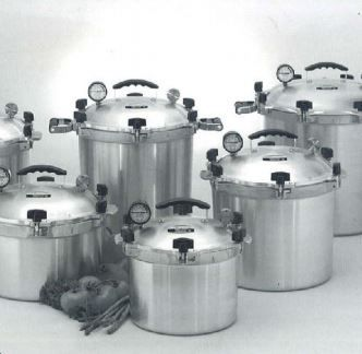 Pressure Cooker Canner Pot 21 5 Quart Aluminum Silver Vintage All American