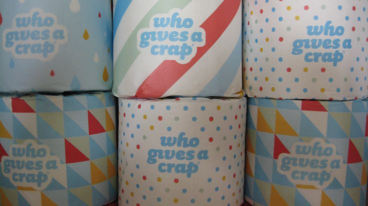 Recycled toilet paper rolls - Who Gives a Crap