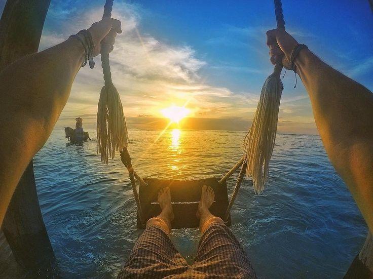 Beautiful sunset on Bali