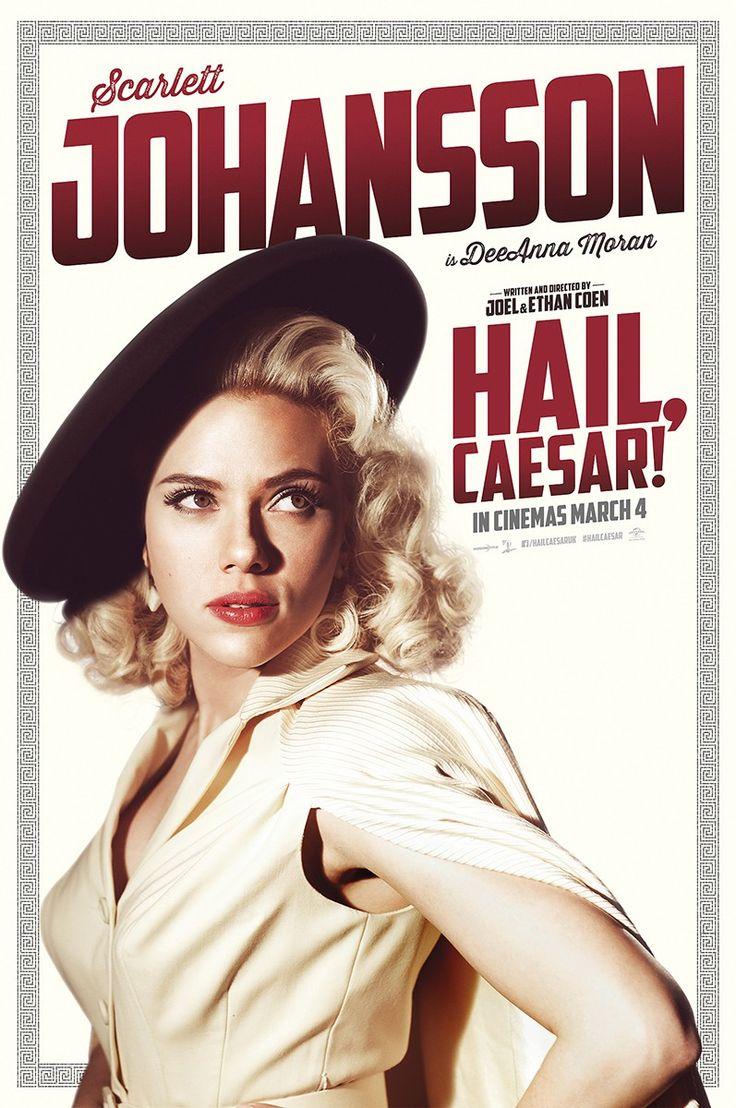 Hailscarlettjohansson new scarlett johansson poster for hail caesar