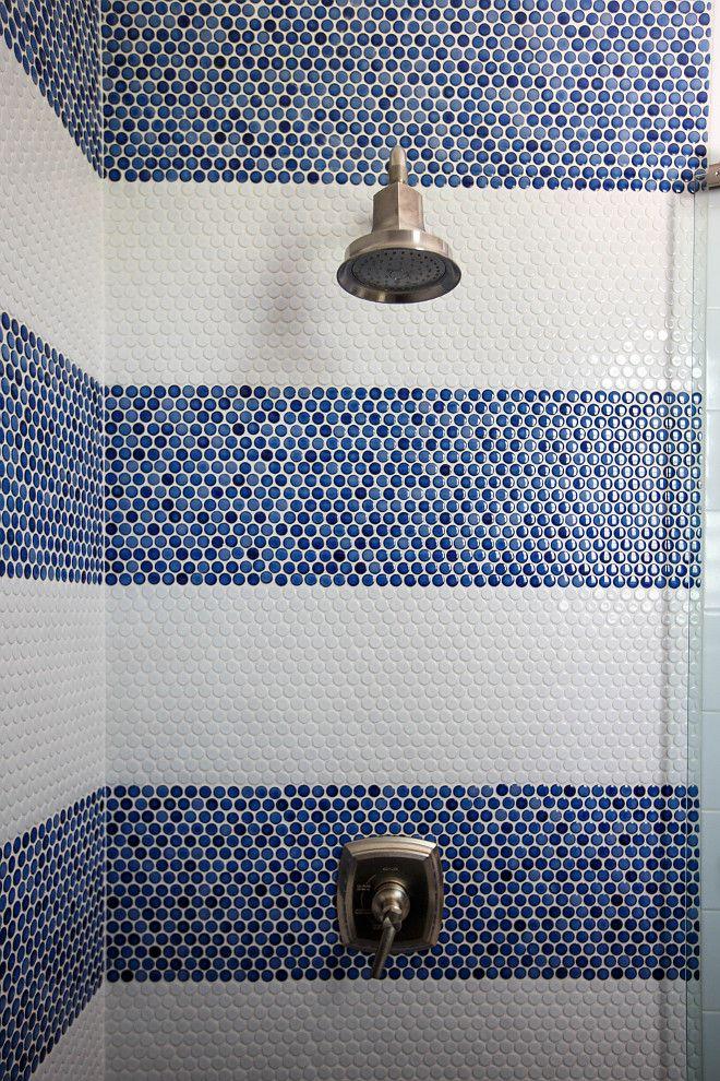 Bathroom Inspiration White Bathrooms Bathroom Design Ideas Bathrooms Bath Decor White Pai Penny Tiles Bathroom Bathroom Tile Renovation Shower Tile