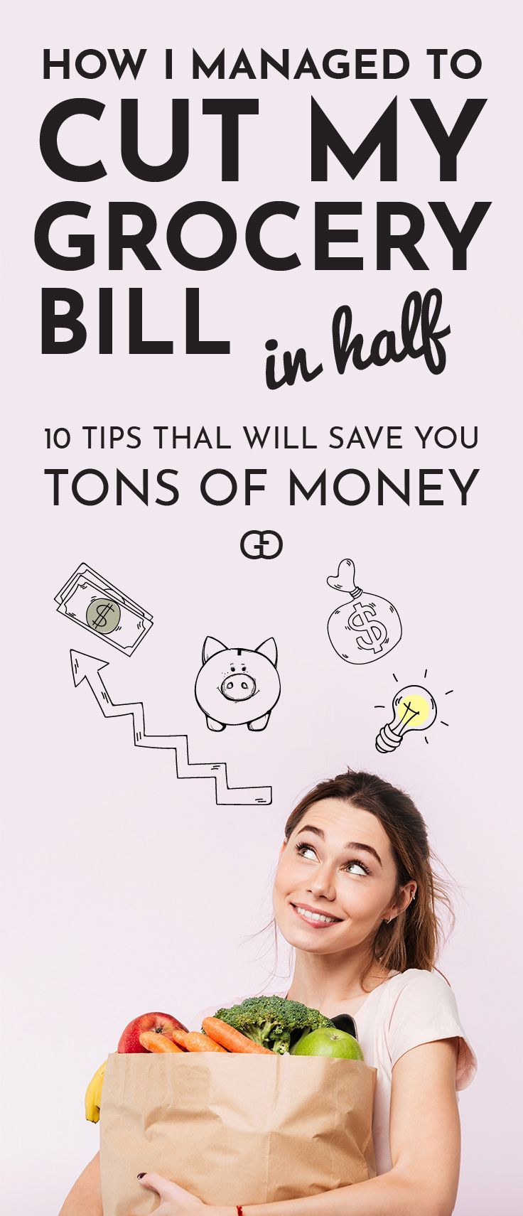 10 saving money tips to save on groceries (without coupons!). I used these hacks to save hundreds each month! By following these simple and easy steps you will be able to reduce waste, while eating amazing and healthy meals! Your family grocery budget can be small, but you can eat well. Save these tips for later!