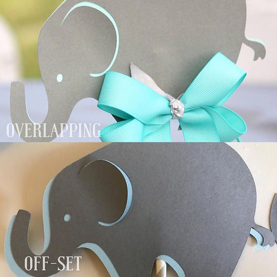 Toppers de centro de mesa de elefante bebé centros de mesa