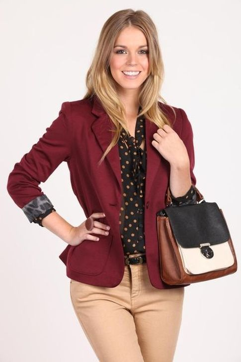 dff0fadbf977 99 Captivating Burgundy Blazer Plus Jeans Outfit Ideas | It's the second  day of my 21 day Skirt and Dress challenge and I was actually looking  forward to ...