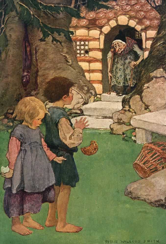 Hansel and Grettel, illustration by Jessie Wilcox Smith from 'A Child's Book of Stories'.  http://www.amazon.co.uk/gp/product/1473319293/ref=as_li_tl?ie=UTF8&camp=1634&creative=6738&creativeASIN=1473319293&linkCode=as2&tag=reaboo-21&linkId=QSSKLUOVKRMDGPR2