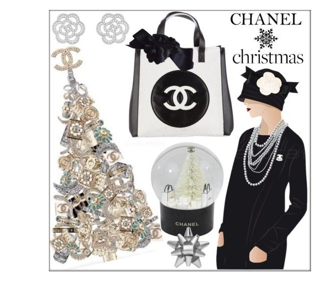 Chanel Christmas! by whirlypath on Polyvore featuring interior, interiors, interior design, home, home decor, interior decorating, Chanel and Martha Stewart