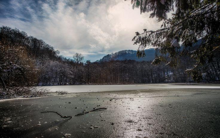 Frozen lake by Denes Kiss on 500px
